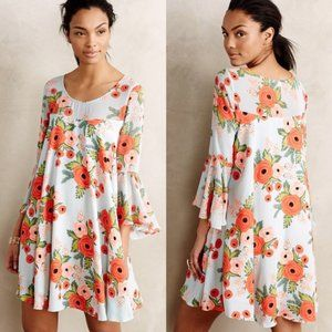 Anthropologie Rifle Paper Fluttered Blooms Dress S